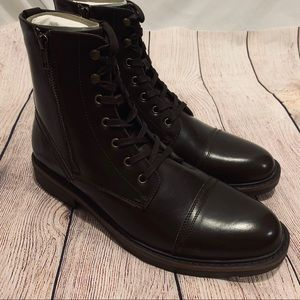 Unlisted Kenneth Cole Brown Captain Boots zipper